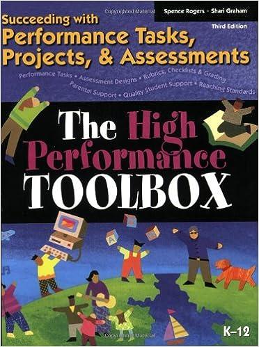 kindergarten performance tasks