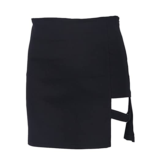 Qiuxiaoaa Faldas de Cadera, Falda Corta, Estilo Coreano Paquete ...