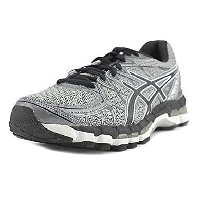 ASICS Men's Gel-Kayano 20 Running Shoe,Paloma/Black/Lightning,9 M US