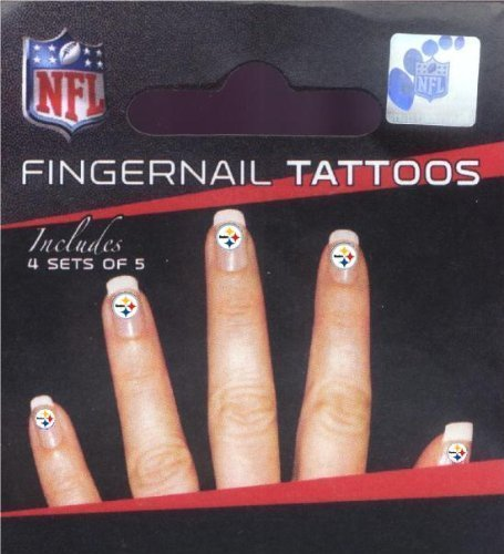 Pittsburgh Steelers Fingernail Tattoos -