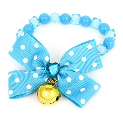 Amazon.com : eDealMax Collar de perro Los granos redondos de la decoración del Bowknot Collar, 10.2, Azul : Pet Supplies