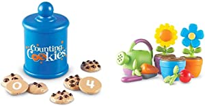 Learning Resources Smart Counting Cookies, Counting, Sorting, 13 Piece Set, Ages 2+ & New Sprouts Grow It! Toddler Gardening Set, Outdoor Toys, Pretend Play, 9 Pieces, Ages 2+