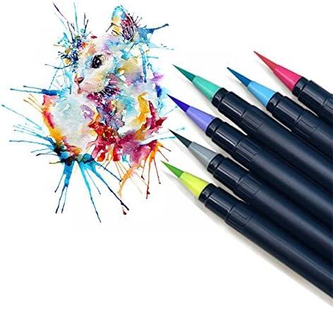 BEROSS 筆ペン 極細毛筆 水彩筆 文具 20色セット 収納ケース付き