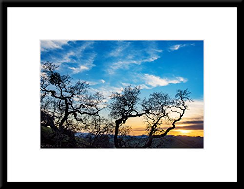 Lagoon Valley Sunset - Framed Scenic Art Print on Sale (18 x 24 inches Framed Wall Art - Photographic Art Print with Wood Frame and ()