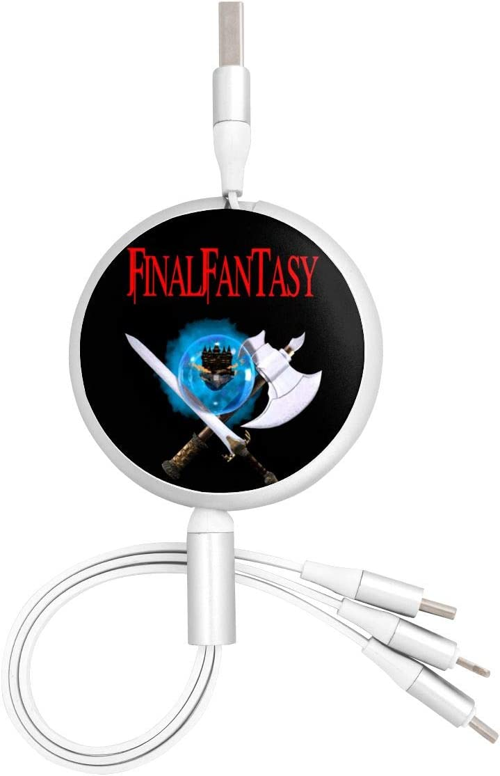 Fast Charging Data Sync Transfer Cord USB Charger Final Fantasy Three-in-One Portable Charger