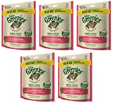 Greenies Feline Dental Treats Savory Salmon 1.72Lbs (5 x 5.5oz)