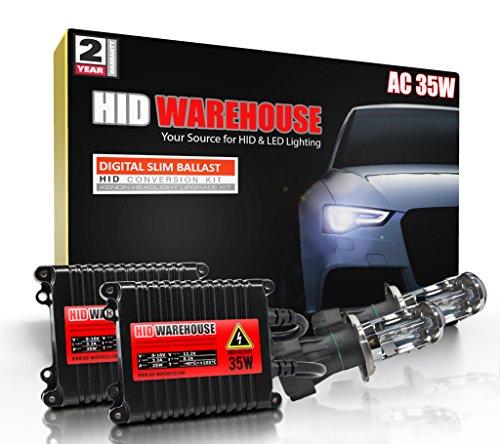 HID-Warehouse® AC 35W HID Xenon Conversion Kit with Premium Slim Ballast - Bi-Xenon H4 / 9003 5000K - Bright White - 2 Year Warranty