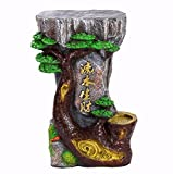 Craft Decoration Home Waterfalls Fountain Water Flows Water Decoration Double Sides Desktop Decorations Artworks