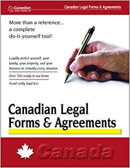 Canadian Legal Forms And Agreements Canada Amazon - Legal forms canada