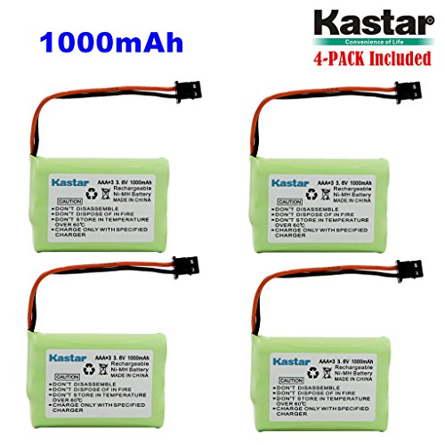 Kastar 4-PACK AAAX3 3.6V MSM 1000mAh Ni-MH Rechargeable Battery for Uniden Cordless Phone BT-446 BT446 BP-446 BP446 BT-1005 BT1005 TRU8885 TRU8885-2 TRU88852 TRU8888 TRU9460 TRU9465 TRU9480 TCX-800 3815 Cordless Phone Battery