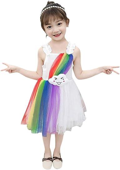LANSKIRT Niñas Vestido Tutú de Gasa Disfraces de Halloween para ...