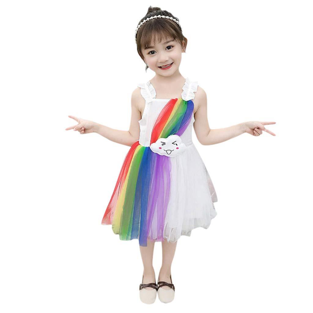 FRAUIT Abito da Sposa Bambina Carnevale Abiti da Cerimonia Bimba Damigella Vestiti Principessa Tulle Vestito Bambino Compleanno Halloween Abiti da Sera Eleganti Ragazza da Matrimonio