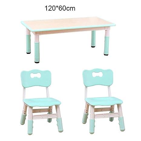 Amazon.com: ZH Kids - Juego de mesa y silla ajustables, mesa ...
