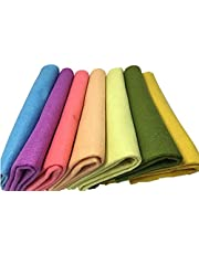 """Misscrafts 7pcs 18"""" X 18"""" 1.4mm Thick Soft Felt Nonwoven Fabric Sheet Pack DIY Craft Patchwork Sewing Squares Assorted Colors"""