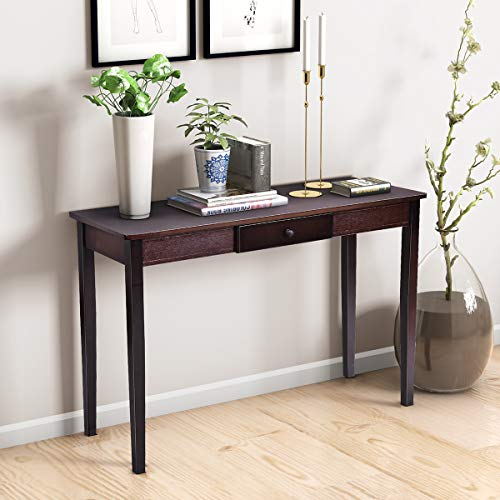 Giantex Console Table Wooden W/Drawer for Entryway Hallway Living Room Modern Home Furniture Hall Side Tall Accent Table
