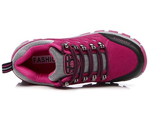de Rosa de Cordones Senderismo de Senderismo Zapatillas Hombre Senderismo Botas Botas Zapatos Piel Botas para Mujer s al Trainer Aire 8507ds de FMCAMEL Libre de Deporte Ocio de 5qtxpwAgx