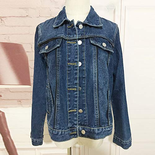 Overcoat Outwear Autumn Warm Jeans HOOUDO Blue Coat Winter Ladies Denim Jacket Casual Fashion Women Short wZxFOBq