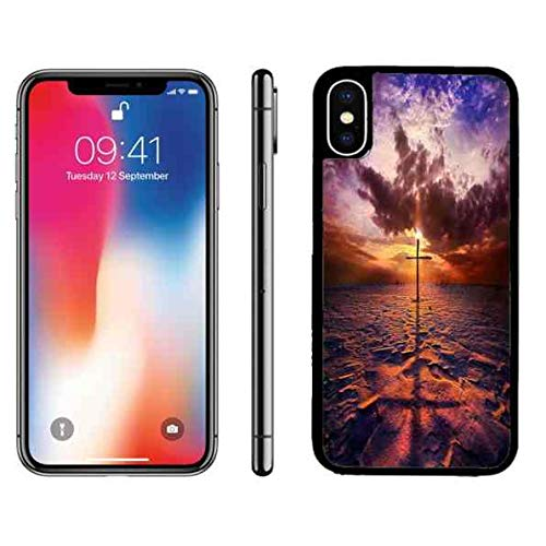 iPhone X Plastic Case Cross for iPhone X Case iPhone X Christ Cross Slim Case God Quotes Shock Absorption Case for iPhone X ()
