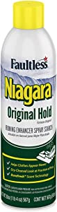 Liquid Starch Iron Spray (20 oz, 12-Pack) - Niagara Starch Spray Iron Aid: Non-Flaky/Clogging   Durafresh Scent - Original Hold Iron Out Spray - Iron Spray Pack for Clothes & Fabrics