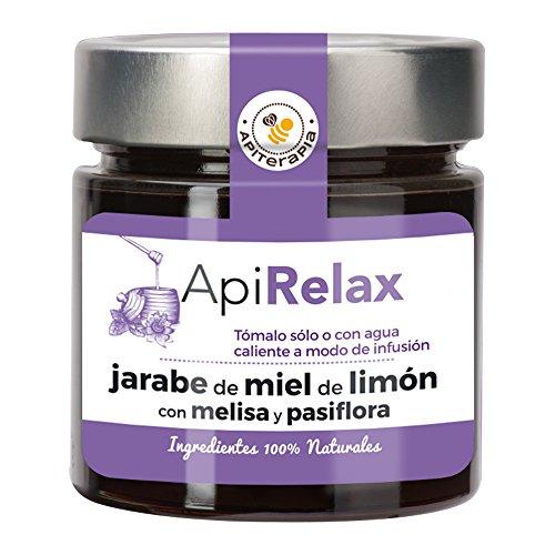 """""""Apirelax""""Jarabe de Miel de Limón con Melisa y Pasiflora, 300g"""
