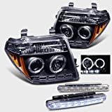 2007 NISSAN FRONTIER HALO HEAD LIGHTS PROJECTOR HEADLIGHTS + 8 LED BUMPER LAMPS