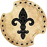 Thirstystone Fleur de Lis II Car Cup Holder Coaster, 2-Pack