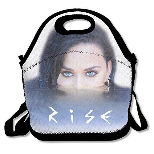 Black Fashion Katy Perry Rise Lightweight Unisex Lunch Tote Bag For Woman Man Kid