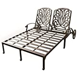 Cheap Darlee Elisabeth Double Patio Chaise Lounge in Antique Bronze