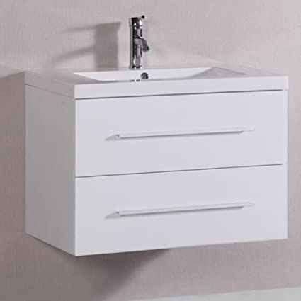 Belvedere Designs T9019A Modern Floating Bathroom Vanity, 32u0026quot;, ...