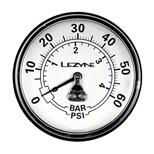 LEZYNE 60 Psi Dirt Floor Drive Bicycle Pump Replacement Gauge, Black/Silver