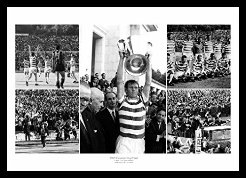 3c16ef850a6 Home of Legends Framed Celtic FC 1967 European Cup Final Photo Memorabilia