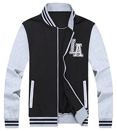 DigerLa Men's Long Sleeve Bomber Baseball Varsity Jacket (Medevil Dresses)