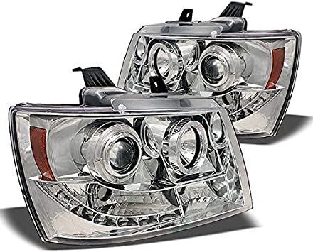 FOR 2007-2014 CHEVY TAHOE AVALANCHE CHROME HEAD LIGHTS COVER COVERS TRIM 2010 11