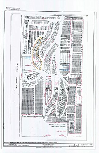 historic pictoric Structural Drawing Fairview Cemetery Plot Plan - Fairview Cemetery, 700 Yale Boulevard Southeast, Albuquerque, Bernalillo County, NM 44in x 66in