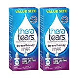 TheraTears Eye Drops for Dry Eyes, Dry Eye Therapy Lubricant Eyedrops, 1FL oz (30mL), Pack of 2