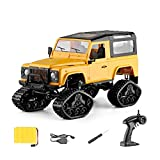 ElevenY New Remote-controlled Off-road Vehicle 1/16 Off-road SUVRC Car Desert Buggy Truck 2.4GHz4WD High Speed Remote Control RTR RC Car With CaterpillarTrack Wheel For Kids Adults Hobby Toys Xmas Gif