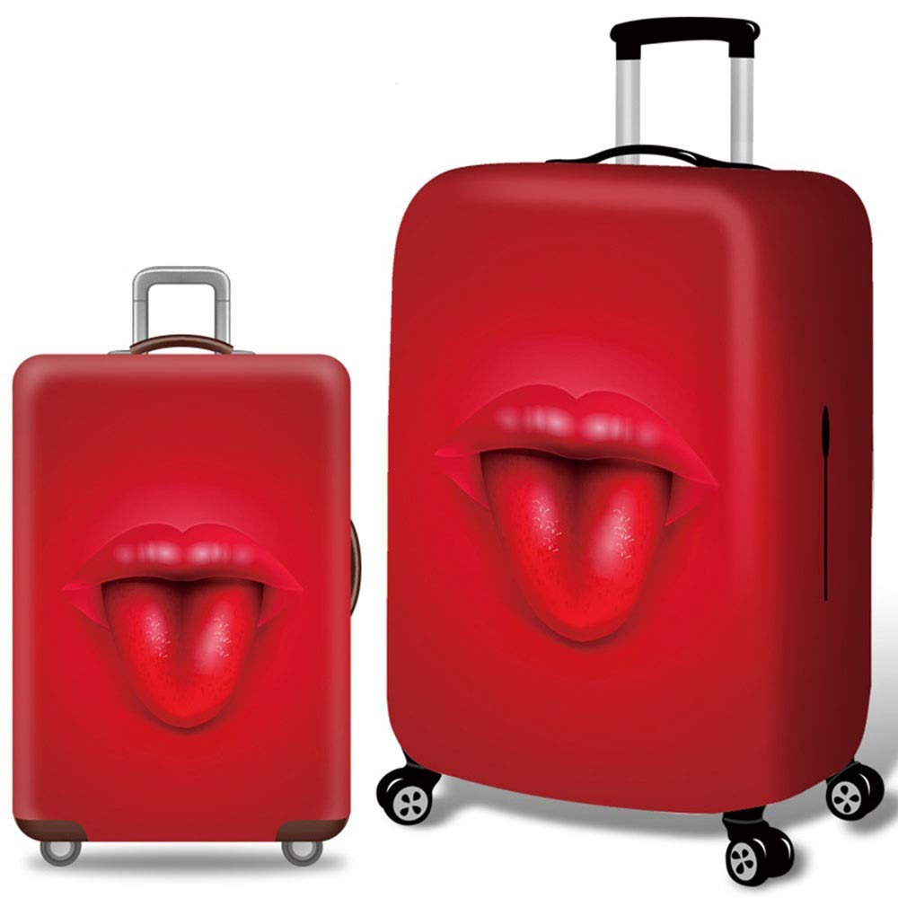 18-21 Color : Red, Size : S DHUYUN-Bag Luggage Cover Protector Durable Washable Travel Suitcase Protector Elastic Spandex Luggage Cover Fits 18-32 Luggage Washable Baggage Covers