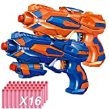 EXSPORT 2 Pack Blaster Guns with Dart Wristers Kit and 36 PCS Soft