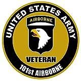 1 Pc Uppermost Fashionable US Army Veteran 101st Airborne Sticker Sign Window Vinyl Doors Size 4