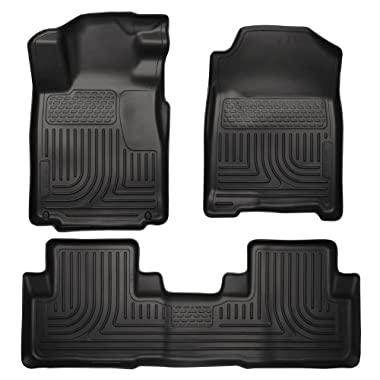 Husky Liners Custom Fit WeatherBeater Molded Front and Second Seat Floor Liner for Select Honda CR-V Models (Black)