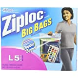 Ziploc Big Bag Double Zipper, Large, 5-Count by Ziploc