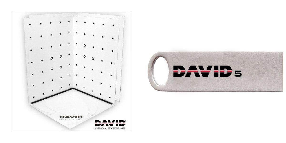 Bundle DAVID5 USB – 3D Scanning Software + Calibration Panels Set