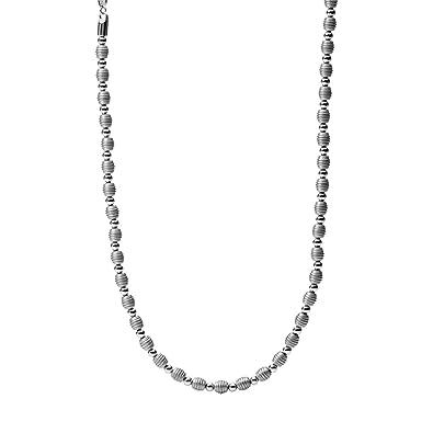 Fossil Jewelry Herren-Halsketten ohne Anhänger Edelstahl silber JF00497797