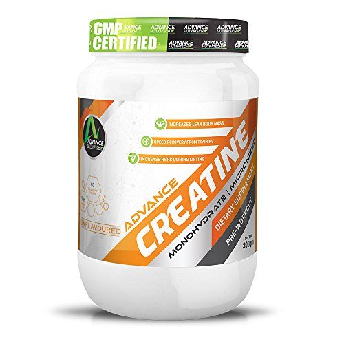 Creatine Monohydrate unflavoured 300g … by ADVANCE NUTRATECH
