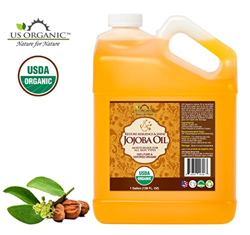 51MPV%2BBw5dL - #1 Organic Jojoba Oil, Certified Organic by USDA,100% Pure & Natural, Cold Pressed Virgin, Unrefined, Amber Glass Bottle w/ Glass Eye Dropper for Easy Application, US Organic