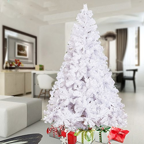 KARMAS PRODUCT 6 Ft High Christmas Tree 800 Tips Decorate Pine Tree With Metal Legs White With Anti-dust Bag by KARMAS PRODUCT