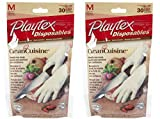 Playtex Disposables CleanCuisine Gloves - Medium: 2 Packs of 30 Count