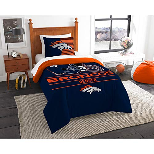 The Northwest Company NFL Denver Broncos Twin Comforter and Sham, One Size, Multicolor
