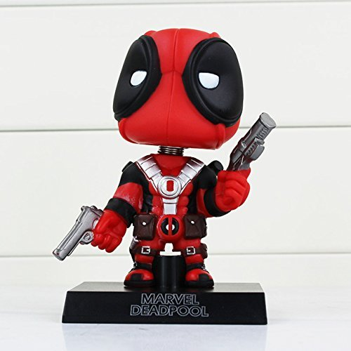 Pop Deadpool Figure Toy Wacky Wobbler Bobble Head PVC Action Figures toys Doll With Base approx 13.5cm With Box by PJ's Toybox