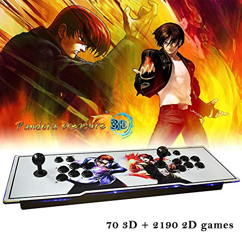 XFUNY Arcade Game Console 1080P 3D & 2D Games 2260 in 1 Pandora's Box 70 3D Games 2 Players Arcade Machine with Arcade Joystick Support Expand 6000+ Games for PC / Laptop / TV / PS4